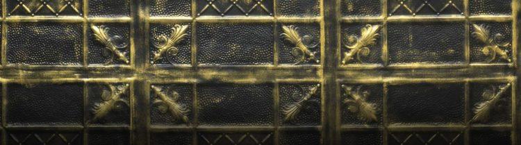 Gold Black Primula Duvar Paneli