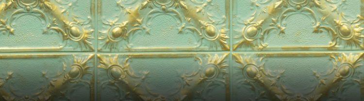 Gold Green Magnolia Duvar Paneli