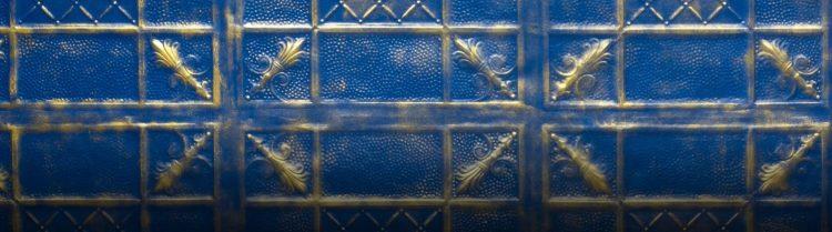İndigo Blue Primula Duvar Paneli